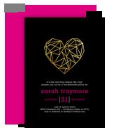 Custom Invitation - Geometric Heart 5x7 Flat Card