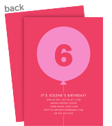 Custom Birthday Invitation - Pink Balloon 5x7 Flat Card