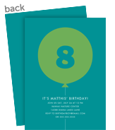 Custom Birthday Invitation - Green Balloon 5x7 Flat Card