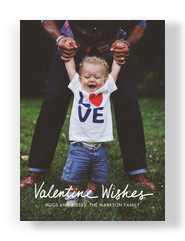 Valentine Wishes Photo Card 5x7 Flat Card