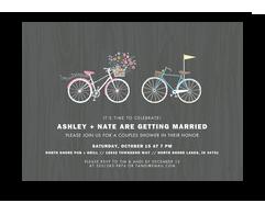 Custom Invitation - Bicycle Pair 7x5 Flat Card