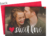 Sweet Love Photo Card 7x5 Flat Card