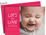 Lots of Love Valentine Photo Card 7x5 Flat Card
