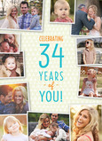 Birthday Photo Collage Greeting Card 5x7 Folded Card