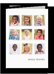 9 Photo Custom Thank You Card 5x7 Folded Card