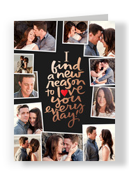 Reasons to Love You Photo Collage Card 5x7 Folded Card
