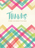 Pastel Watercolor Pattern Thank You Card 5x7 Folded Card