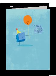 Touching Birthday Card 5x7 Folded Card