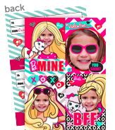 Barbie Photo Valentine Cards 5x7 Flat Card