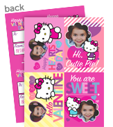 Hello Kitty Photo Valentine Cards 5x7 Flat Card