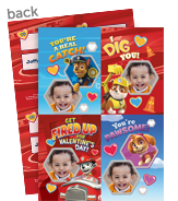 Paw Patrol Photo Valentine Cards 5x7 Flat Card