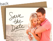 Craft Back Photo Save the Date 7x5 Flat Card