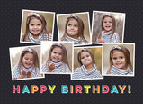 Happy Colors 7 Photo Birthday Card 7x5 Folded Card