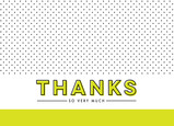 Citron & Dot Pattern Thank You Card 7x5 Folded Card