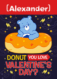 Carebears Grumpy Bear Valentine 5x7 Folded Card