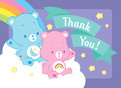 Care Bears Baby Shower Thank You 5.25x3.75 Folded Card