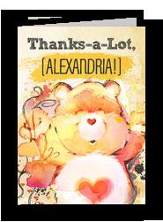 Tenderheart Bear - Care Bears Thank You Card 5x7 Folded Card