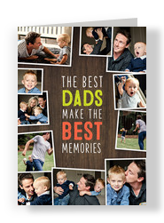 Best Dads, Best Memories Father's Day Card 5x7 Folded Card