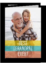 Best Grandpa Ever Photo Card 5x7 Folded Card