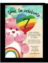 Cheer Bear - Care Bears Invitation 5x7 Flat Card