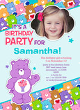 Care Bears Photo Birthday Party Invitation 5x7 Flat Card