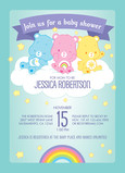 Care Bears Baby Shower Invitation 5x7 Flat Card