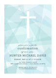 CYO White Cross on Blue Invitation 5x7 Flat Card