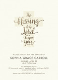 CYO Invitation - Blessing of the Lord 5x7 Flat Card