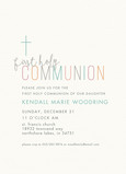 CYO Holy Communion Invite with Cross 5x7 Flat Card