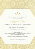 CYO Gold on White Monogram Invitation 5x7 Flat Card