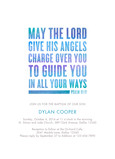CYO Psalm 91 Invitation - Blue 5x7 Flat Card