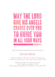 CYO Psalm 91 Invitation - Pink 5x7 Flat Card