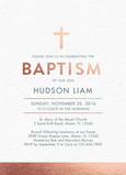 CYO Copper Foil Look Baptism Invitation 5x7 Flat Card