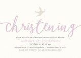 CYO Christening Invitation with Dove 7x5 Flat Card