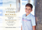 CYO Gold Cross Photo Invitation 7x5 Flat Card