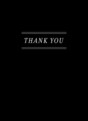 Custom Thank You Note Card - Black & White 3.75x5.25 Folded Card