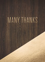 Custom Thank You Note Card - Gold Foil and Wood 3.75x5.25 Folded Card