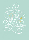 LGBT Wedding  Card - Blue 5x7 Folded Card