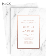 Customized Invitiation - Marble 5x7 Flat Card
