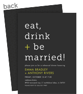 Customized Wedding Invitation - White Print with Lime 5x7 Flat Card