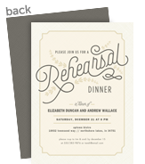 Rehersal Dinner Invitation - Formal on Cream 5x7 Flat Card