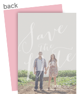 Save the Date - Script Overlay 5x7 Flat Card