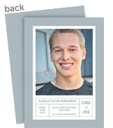Graduation Photo Card - Blue 5x7 Flat Card