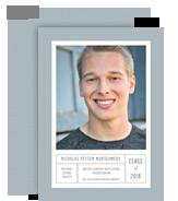 Graduation Photo Card - Blue 5x7 Flat Card