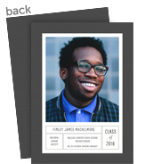Graduation Photo Card - Gray and White 5x7 Flat Card