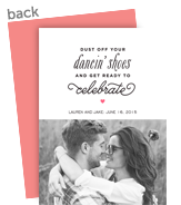 Save the Date Photo Card - Black on White 5x7 Flat Card