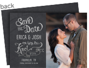 Save the Date Photo Card - Chalkboard 7x5 Flat Card
