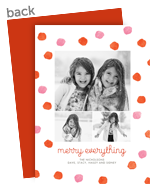 Merry Polka Dots Holiday Photo Card 5x7 Flat Card