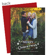 Snowflake Overlay Christmas Photo Card 5x7 Flat Card
