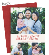 Merry Watercolor Christmas Photo Card 5x7 Flat Card